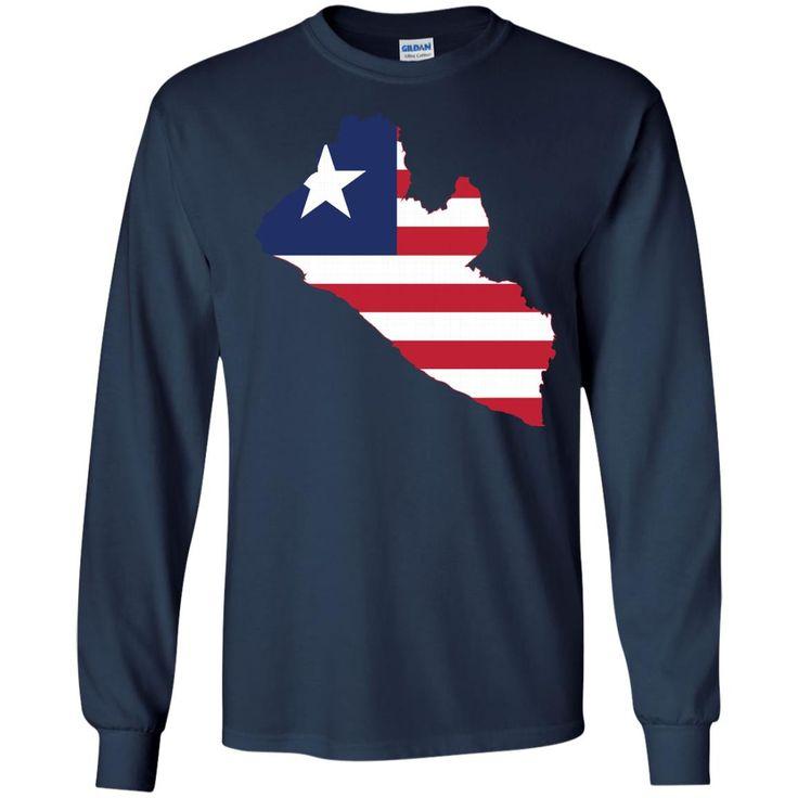 Liberia flag-01 G240 Gildan LS Ultra Cotton T-Shirt