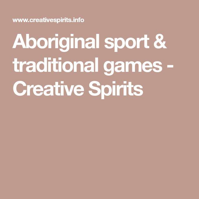Aboriginal sport & traditional games - Creative Spirits