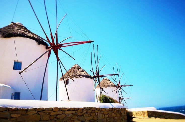 Mykonos, Greece ☀️ __________________ #airparos #greece #mykonos #windmill #famous #helicoptertour #privatejet #jetlife #island #europe #sky #photoftheday #gopro