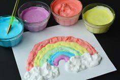 Mezcla espuma de afeitar con colorante alimenticio 07                                                                                                                                                     Más