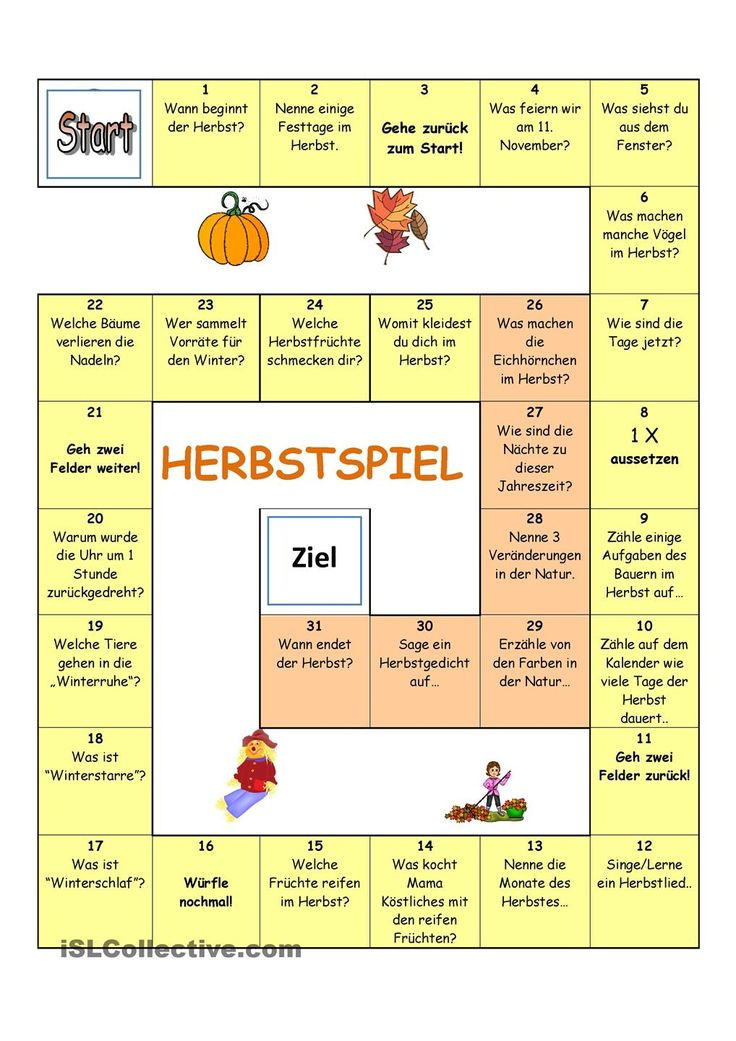 herbstspiel german kindergarten and german language. Black Bedroom Furniture Sets. Home Design Ideas