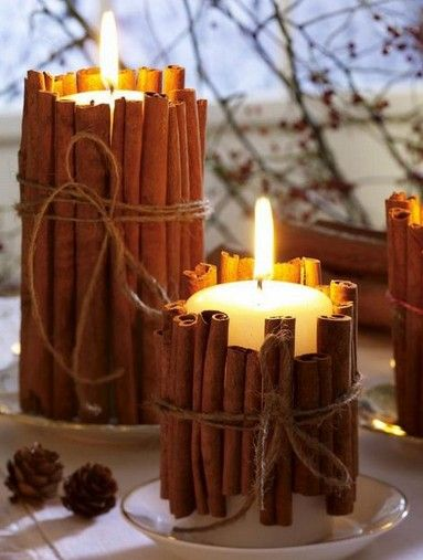 Christmas craft with candles1