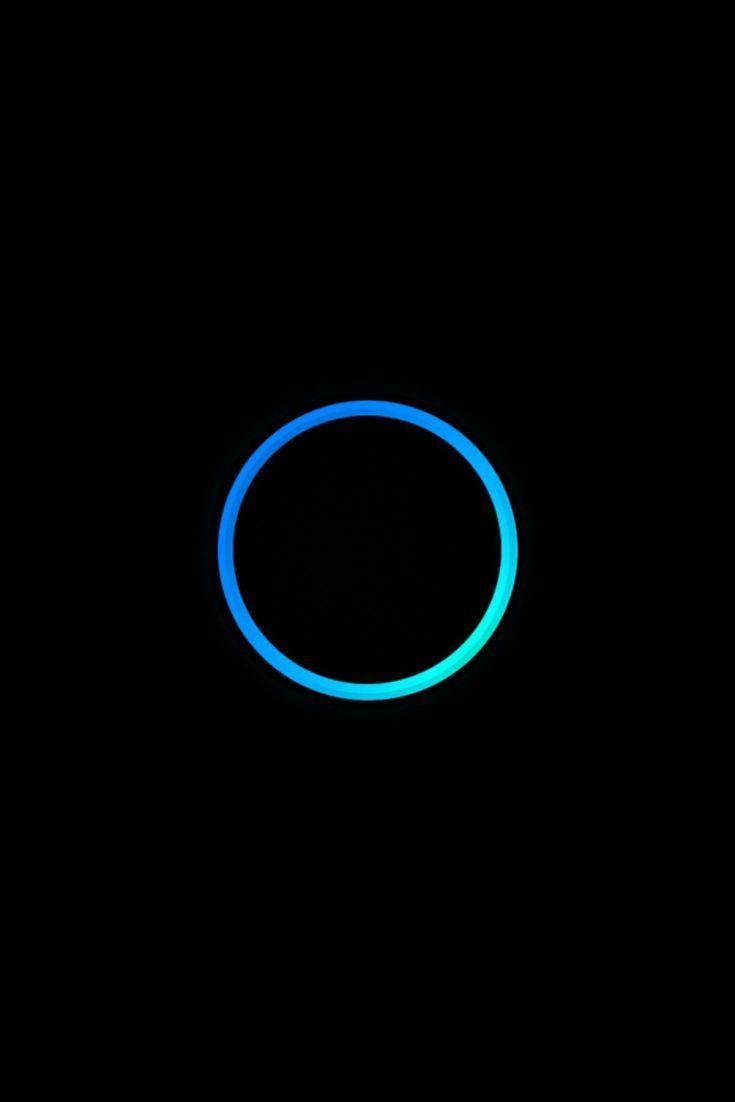 Minimal Blue Circle On Black Background Black Background Wallpaper Black Backgrounds Minimalism