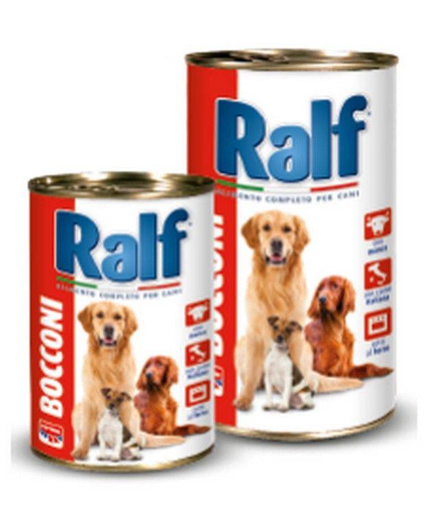 Ralf+Bocconi+è+un+alimento+umido+completo+per+cani+di+tutte+le+razze,+con+succosa+salsa+e+carne+bollita.+Digeribile,+gustoso,+sano. Caratteristiche: Composizione:+Carni+e+derivati+(di+cui+manzo+6,0%),+cereali,+uova+e+prodotti+a+base+di+uova,+sostanze+minerali. Componenti+analitici:+Proteina+grezza+7,5%,+Oli+e+grassi+grezzi+6,0%,+Fibra+grezza+1,0%,+Ceneri+grezze+3,2%,+Umidità+80,0%. Additivi+nutrizionali:+Vitamina+A+1200+U.I./Kg,+Vitamina+D3+160+U.I./Kg,+Vitamina+E+(...