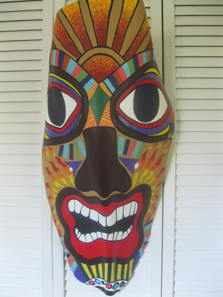 One Of My Palm Frond Quot Masks Quot Available On Etsy My Art