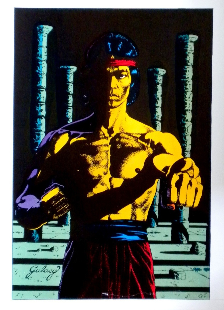Shang Shi Master of Kung Fu Poster from Mighty World of Marvel Pin Up by Paul Gulacy