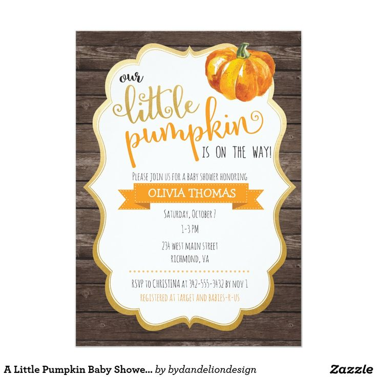13 best Fall Baby Shower Invitations Pumpkins images on Pinterest ...