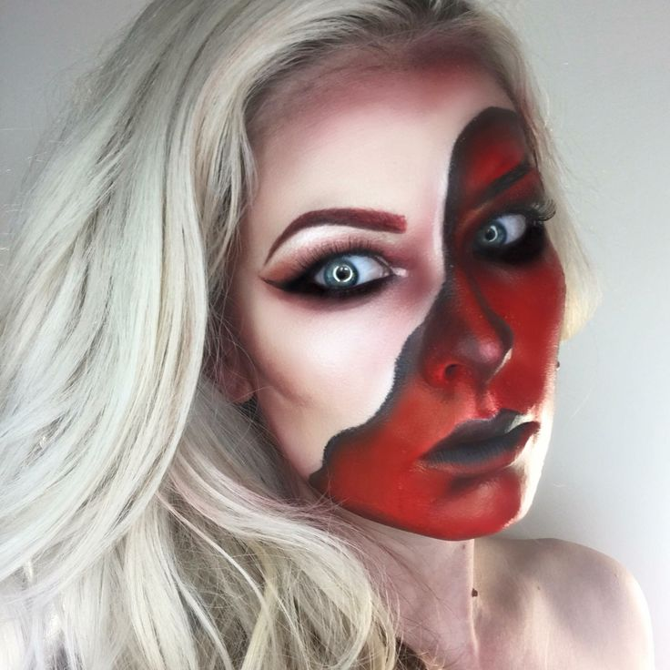 The 25+ best Demon makeup ideas on Pinterest | Demon ...  Demon Halloween Makeup