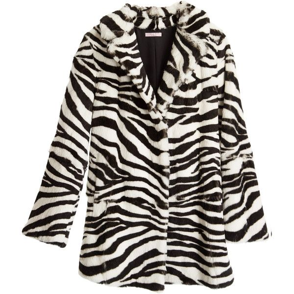 CALYPSO St. Barth Hilisi Zebra Printed Rabbit Fur Jacket (€1.125) ❤ liked on Polyvore featuring outerwear, jackets, black cc, zebra jacket, calypso st. barth, zebra print jacket, rabbit fur jacket and collar jacket