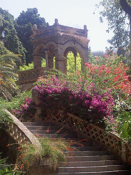 The Public Gardens of Taormina, province of Messina , Sicily region Italy