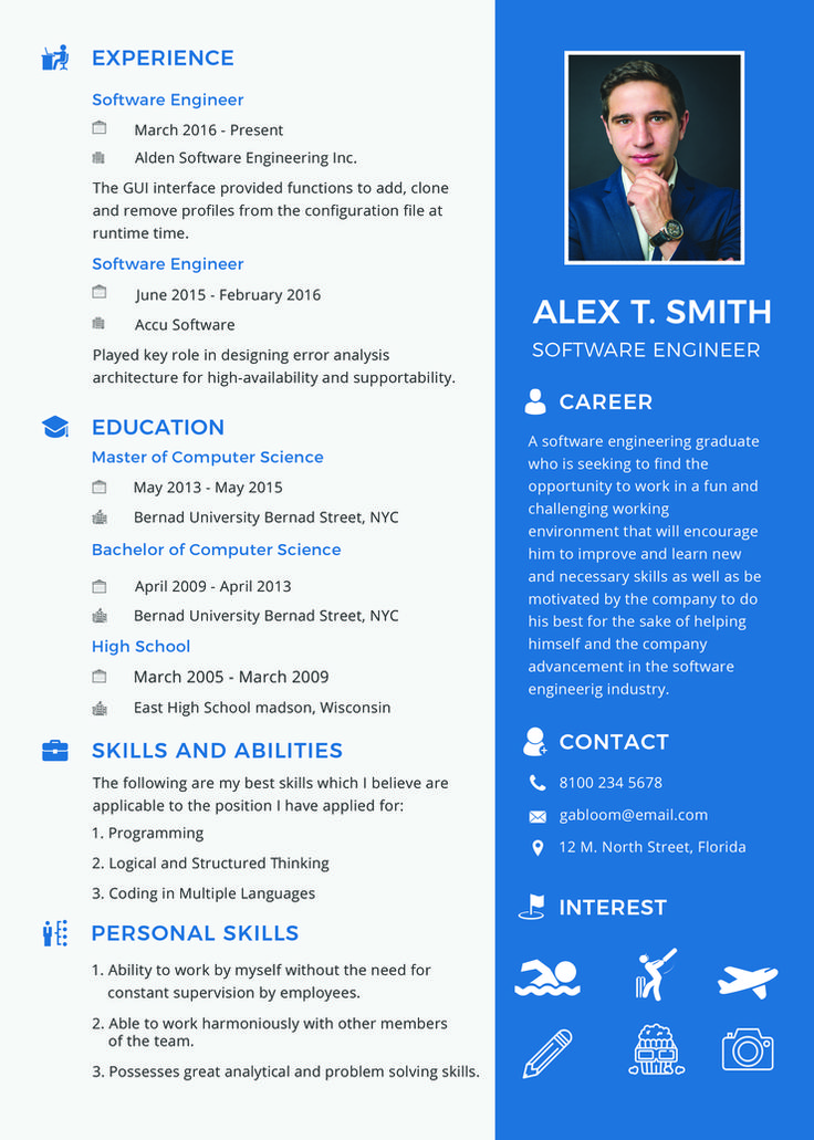 Free Resume for Software Engineer Fresher Resume