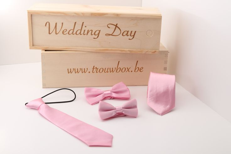 www.trouwbox.be http://trouwbox.luondo.nl/12145442/roze-dasje-en-strikje-kind--das-en-strik-man