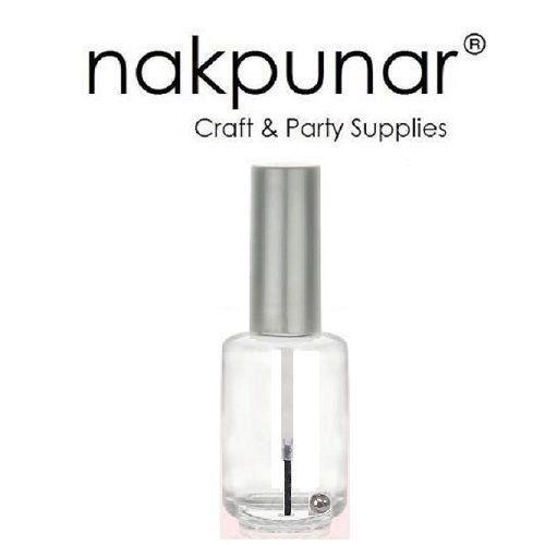 15 ml Empty Glass Nail Polish Bottle with brush   Nakpunar