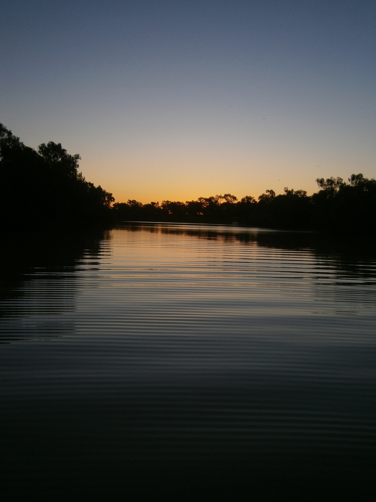 Thomson River at Longreach, Queensland.
