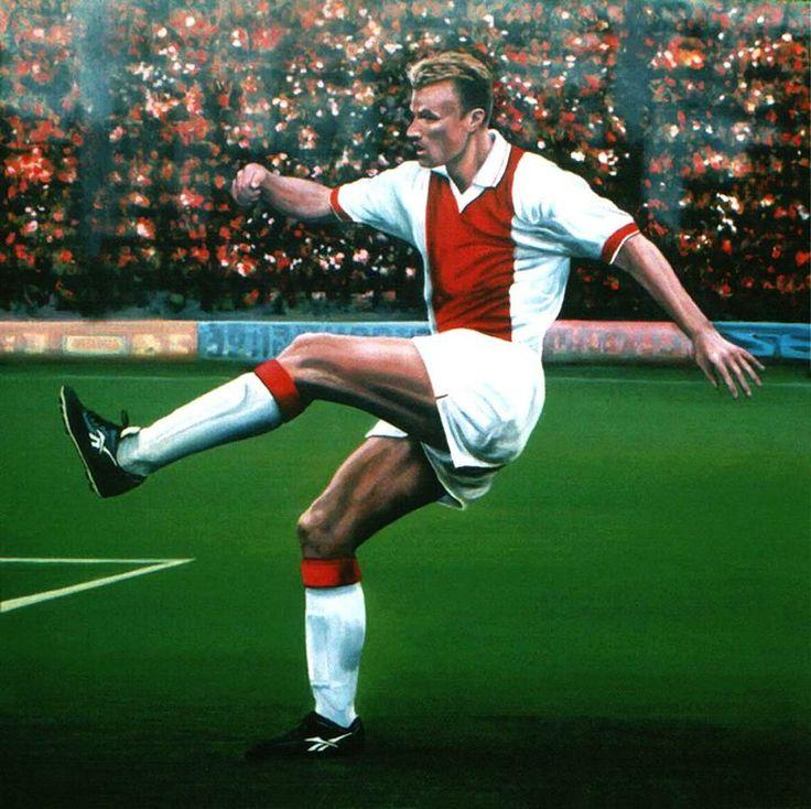 Dennis Bergkamp Ajax Painting  - Dennis Bergkamp Ajax Fine Art Print