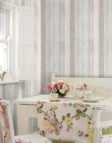 Channel Your Love Of Scandinavian Interiors With This Distressed Wood  Effect Panelling Design. Shown Here With Pale Blue Grey Detail Making It  Perfect For A ...