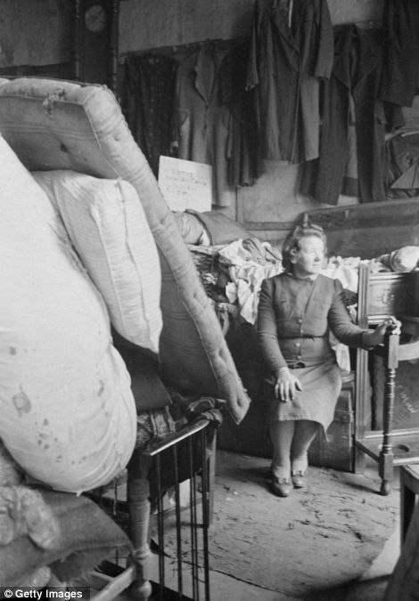 Mrs Lundy at her junk shop in Bedford Street in Gorbals