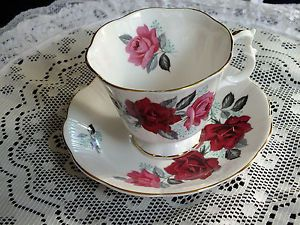 Vintage Royal Albert Red Roses Tea Cup And Saucer *EXCELLENT CONDITION* $24.95 on eBay