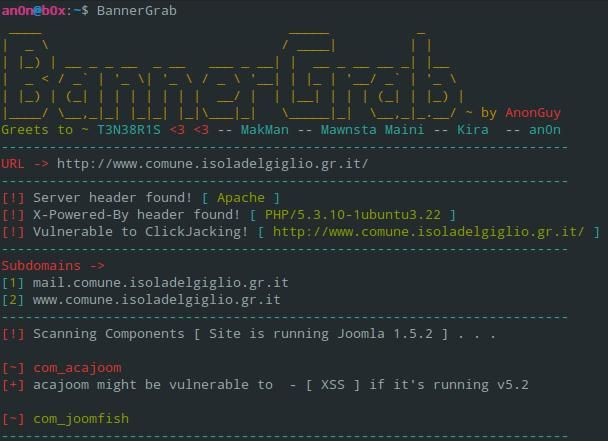 Not Your Average Banner Grabber BannerGrab is a PHP-based banner-grabber, which not only helps you find juicy response headers but also, fetches subdomains