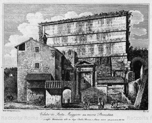 Foto storiche di Roma - Porta Maggiore Anno: 1850 ca.