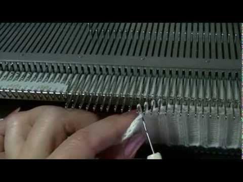 Sew placket knitting machine Пришиваем планку на вязальной машине