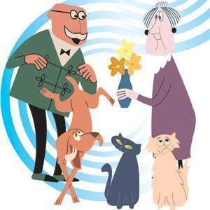 Károly bácsi, Irma néni, Szerénke, Lukrécia és Frakk, a macskák réme