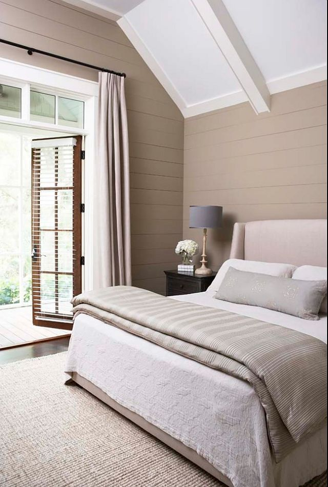 Bedroom has a neutral pallet which makes the room feel ver serene and relaxed.
