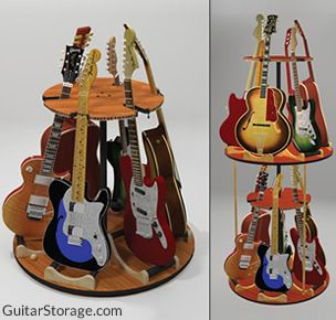 Rotating Multiple Guitar Stand
