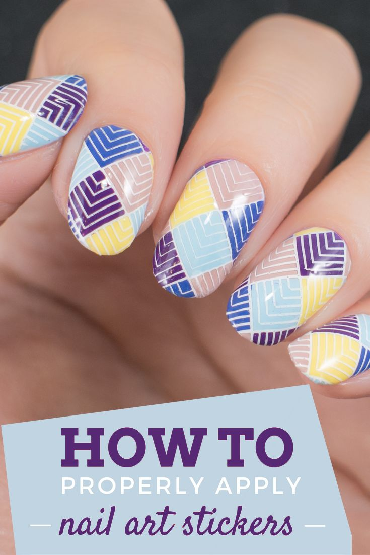 7909 best your nail factor images on pinterest daily nail how to properly apply nail art stickers prinsesfo Image collections