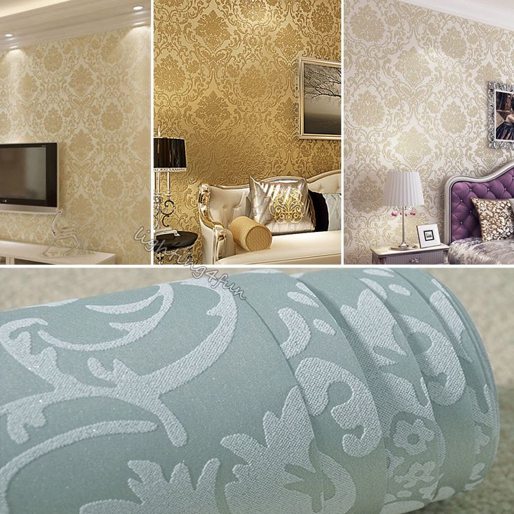 Victorian Damask Luxury Embossed Wallpaper Rolls Gold Silver Beige Cream Designs