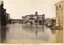 Albumen Photograph Italy Rome Island San Bartolomeo 1870