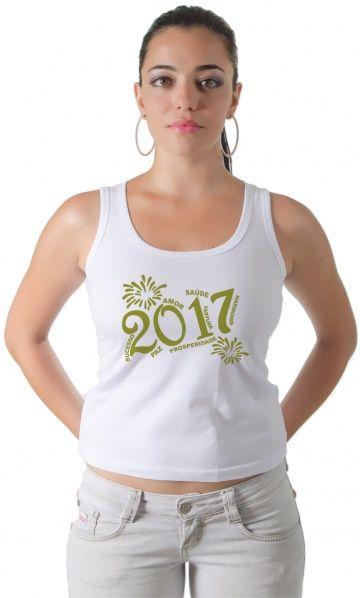 Camiseta - Feliz 2017 - camisetas legais | camisetaseradigital