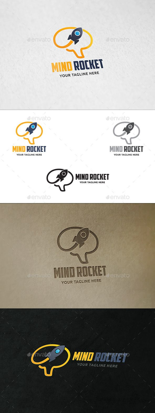 Mind Rocket - Logo Template Vector EPS, AI. Download here: http://graphicriver.net/item/mind-rocket-logo-template/11776088?ref=ksioks