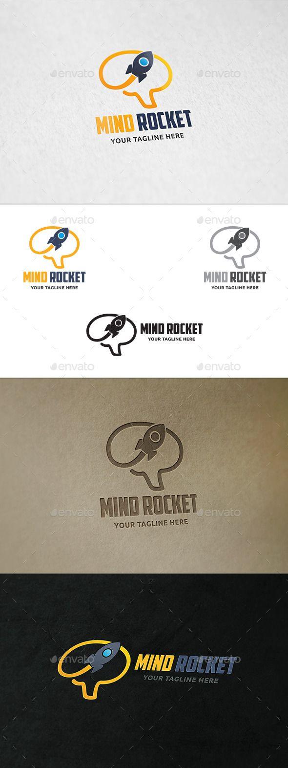 Mind Rocket - Logo Template Vector EPS, AI. Download here: http://graphicriver.net/item/mind-rocket-logo-template/11776088?ref=ksioks