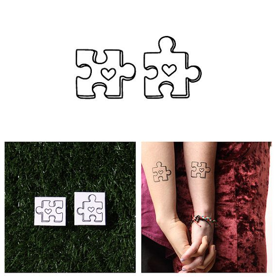 Puzzled – Temporary Tattoo (Set of 2)