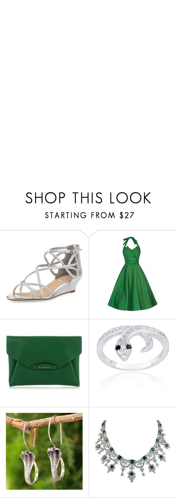 """Slytherin"" by outfit-creator ❤ liked on Polyvore featuring Badgley Mischka, Givenchy, Icz Stonez, NOVICA and Harry Winston"