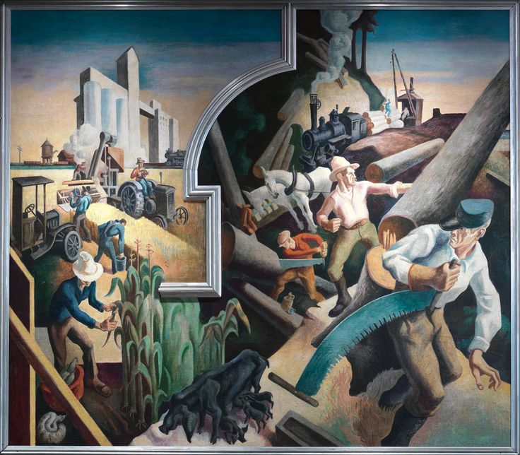 486 best images about thomas hart benton on pinterest for America today mural