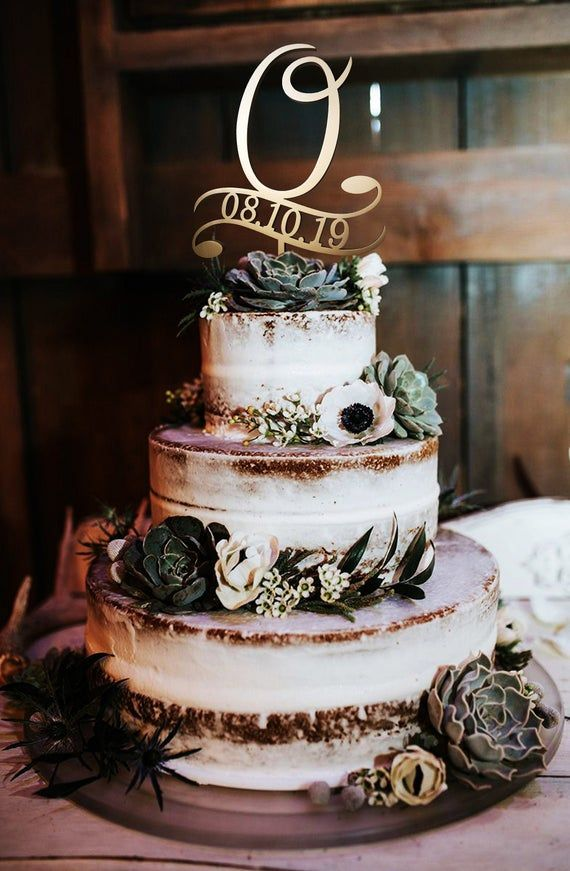O Letter Cake Topper Date Cake Topper Wedding Gold Cake Toppers Cake Toppers For Wedding Rust In 2020 Wedding Cake Rustic Rustic Wedding Cake Wedding Cake Centerpieces