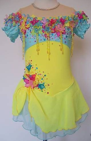 Competition Ice Skating dress/Baton Twirling/Tap Dance leotard Made to Fit | eBay