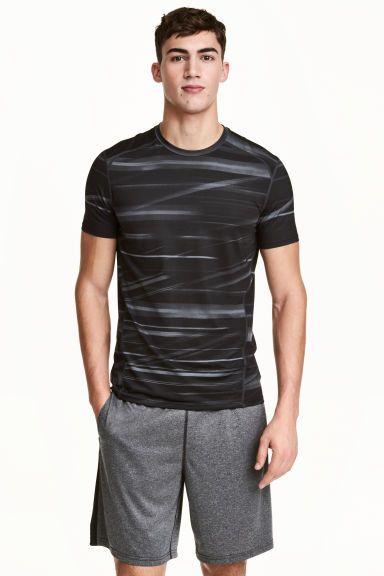 Maglietta sportiva - Grigio scuro/fantasia - UOMO | H&M IT 1