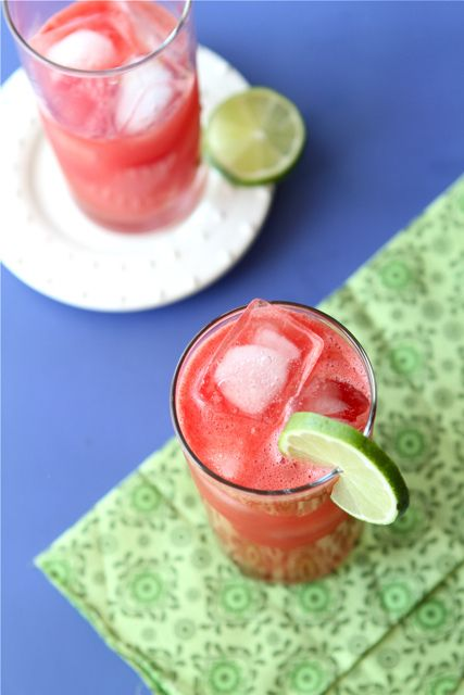 Watermelon Limeade Vodka Cooler by cookincanuck #Cocktail #Watermelon