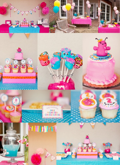 space Monsters- not doing this but how cute to have a girly space party