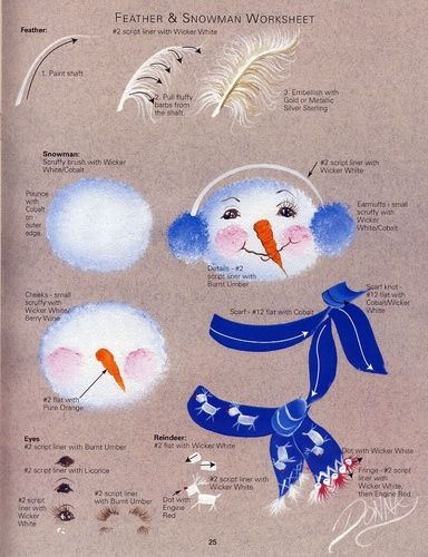 Feather & Snowman Worksheet