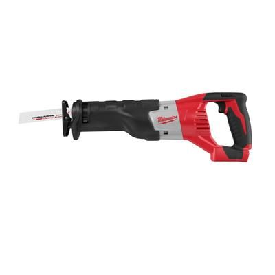 This cordless sawzall is truly an overachiever. The high capacity Lithium-ion battery offers up to 75 more cuts per charge and is designed to cut up to 30 per cent faster with less vibration. Weighing only 7.9 lbs, this saw is designed for maximum power, operator comfort and convenience.