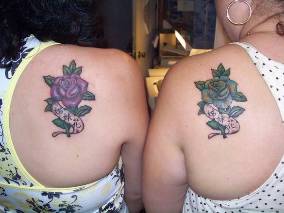 cool matching cousin tattoos | Deland, FL - Custom Matching Rose's Tattoos By Effie @ About You ...