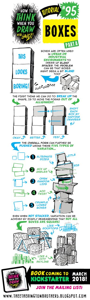 Today's tutorial is on how to draw BOXES! I recommend combining this with my How to draw IN 3D tutorial! How to THINK when you draw B...