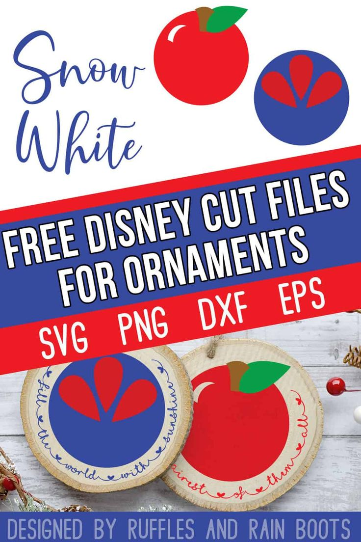 Disney Ornament SVG Collection for the BEST Ornaments
