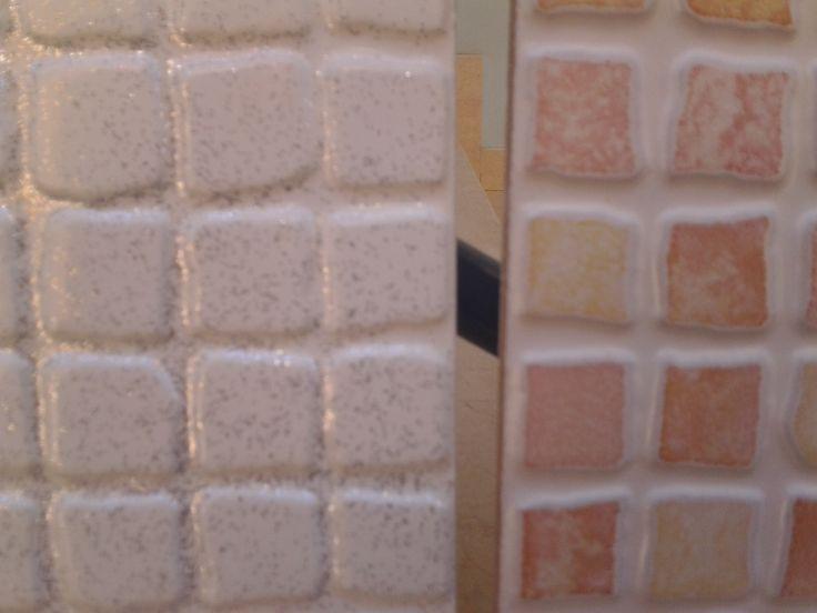 Pittura piastrelle pavimento idea creativa della casa e - Pittura per piastrelle bagno ...