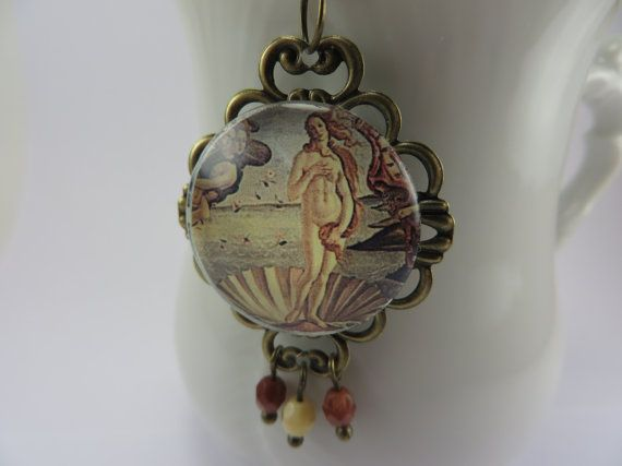 Birth of Venus Botticelli Art Glass by JewelryJustForPretty, $16.99