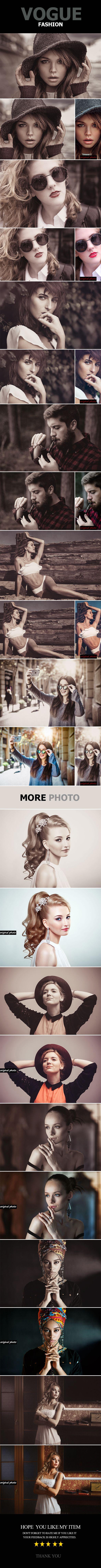 Vogue Fashion Photo Effect Photoshop Action